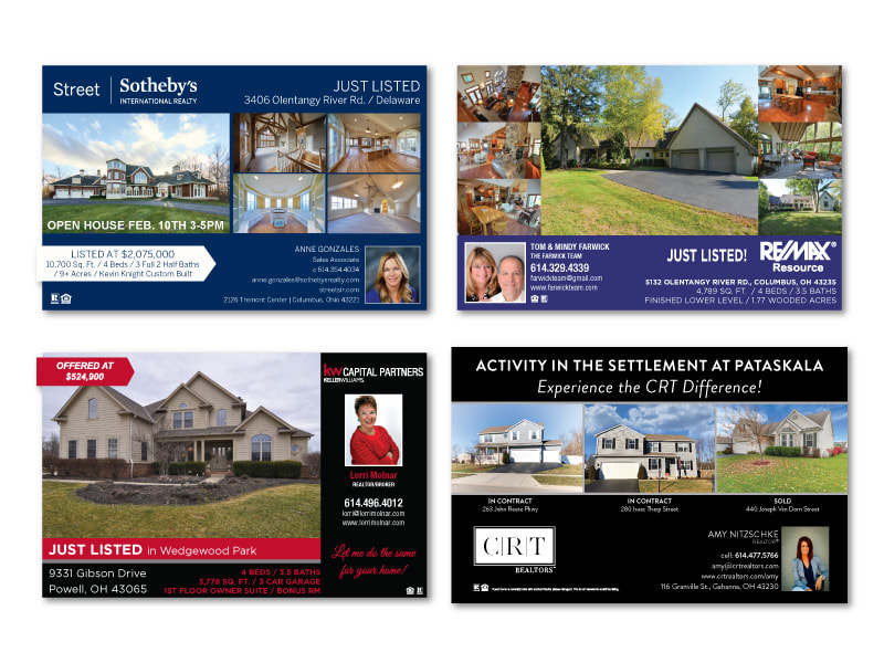 Real Estate Just Listed Just Sold Postcards